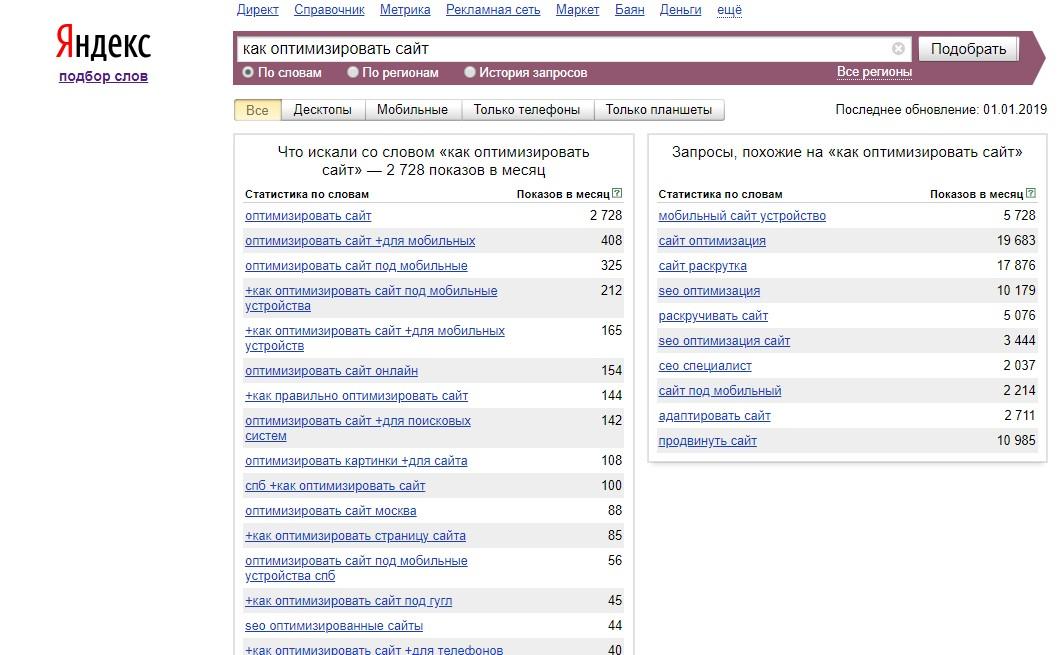 Воспользуйтесь инструментом для подбора слов от поисковой системы Яндекс